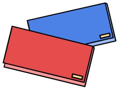 金運をアップする財布の色 赤と青